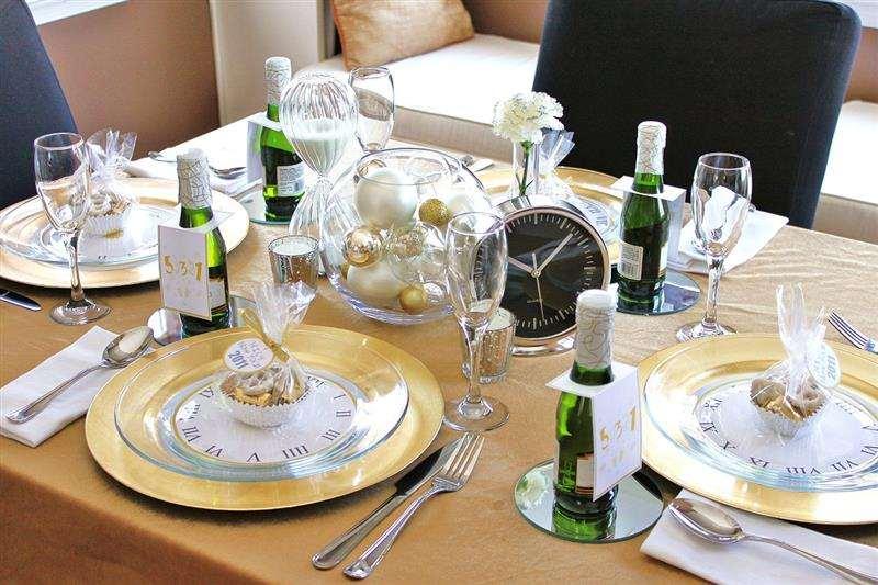 mesa de Ano Novo simples e barata