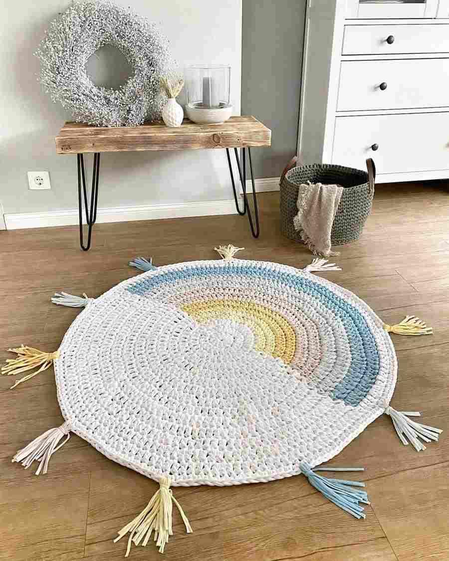 tapete infantil de crochê simples