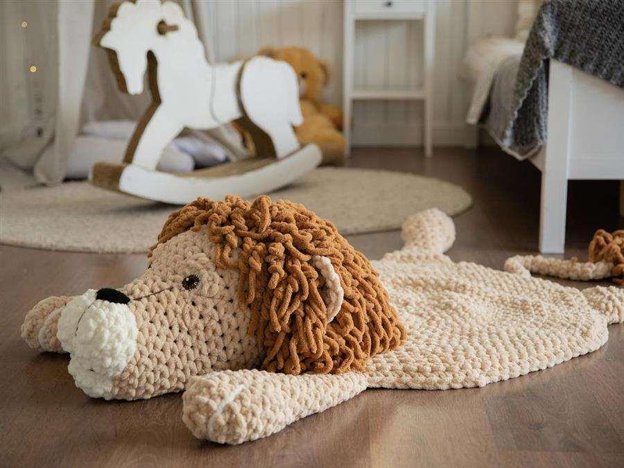 Tapete de crochê leãozinho