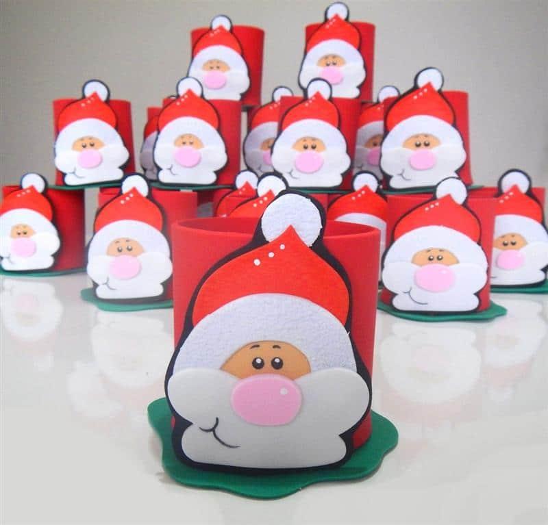 Porta guloseimas com o Papai Noel