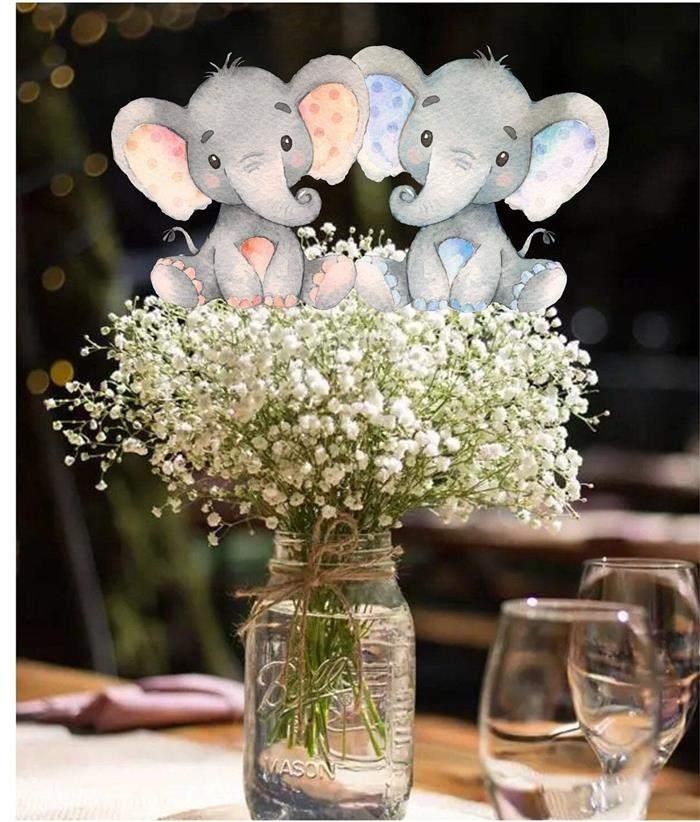 lembrancinhas chá revelação elefantinho