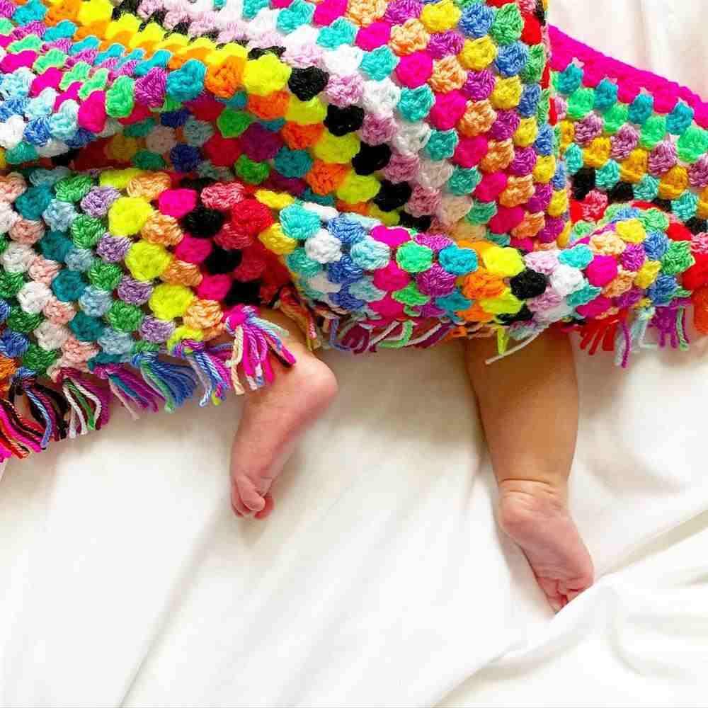 manta de crochê para bebê passo a passo