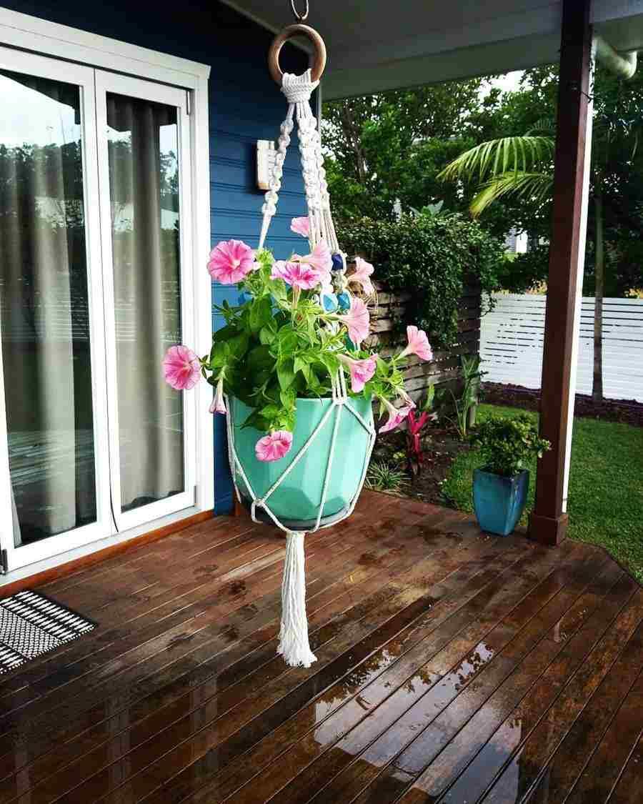 macrame para vaso de flor