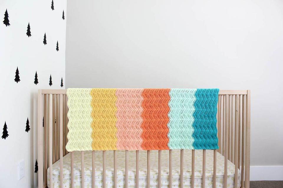 como fazer manta de crochê para bebê