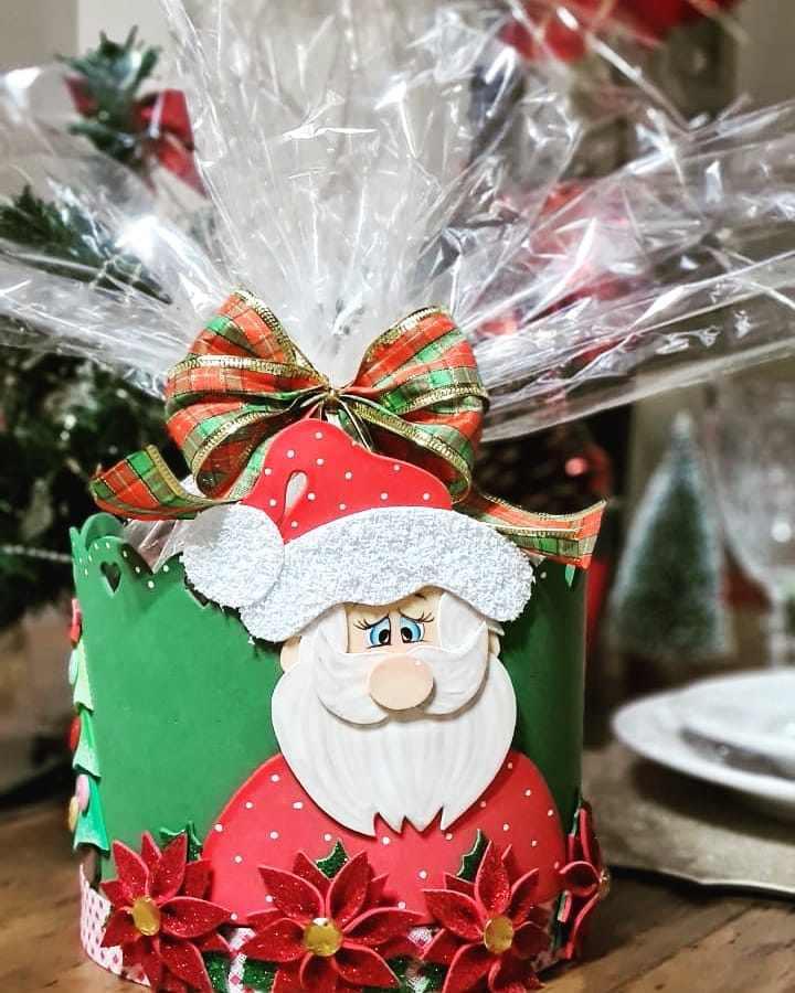 Porta panetone natalino