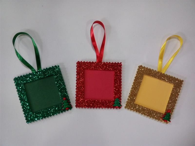 mini porta retrato natalino em EVA