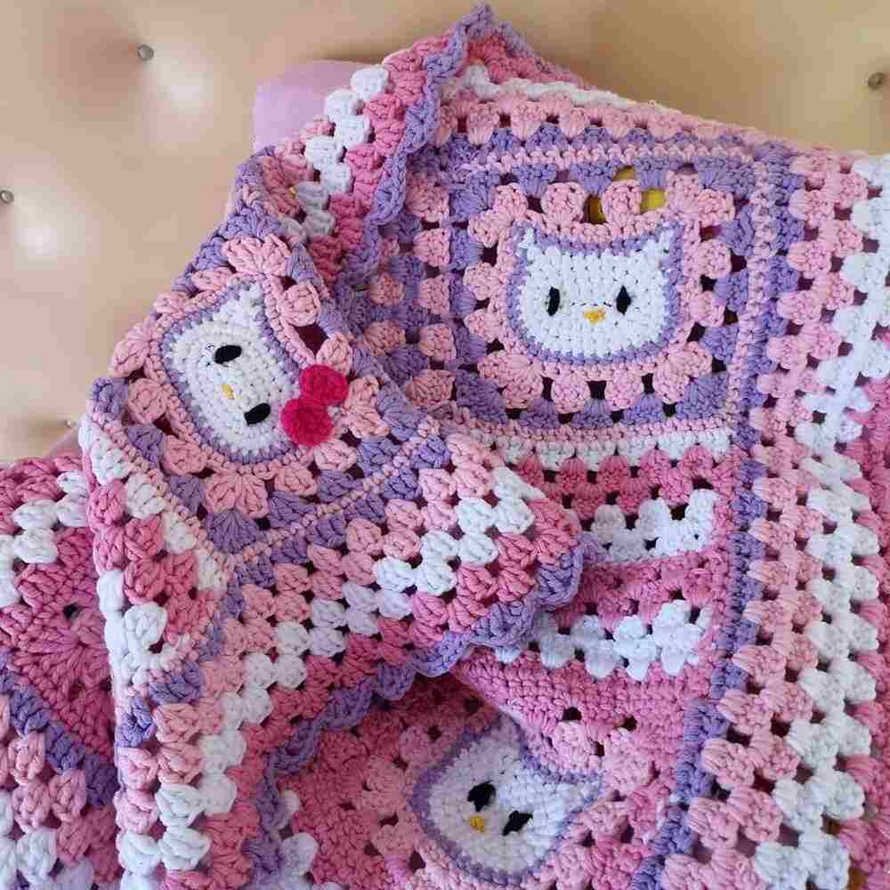 manta para bebe hello kitty