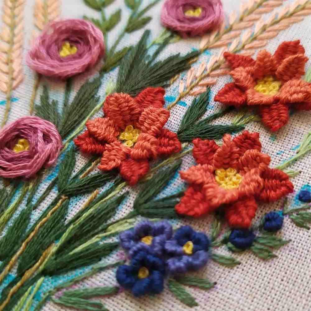 bordado flor rococo