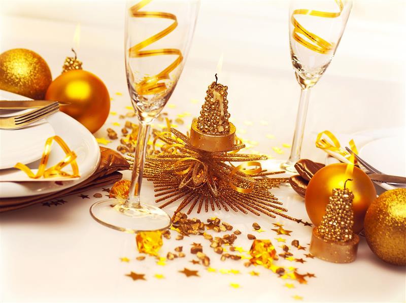 mesa de jantar de Ano Novo