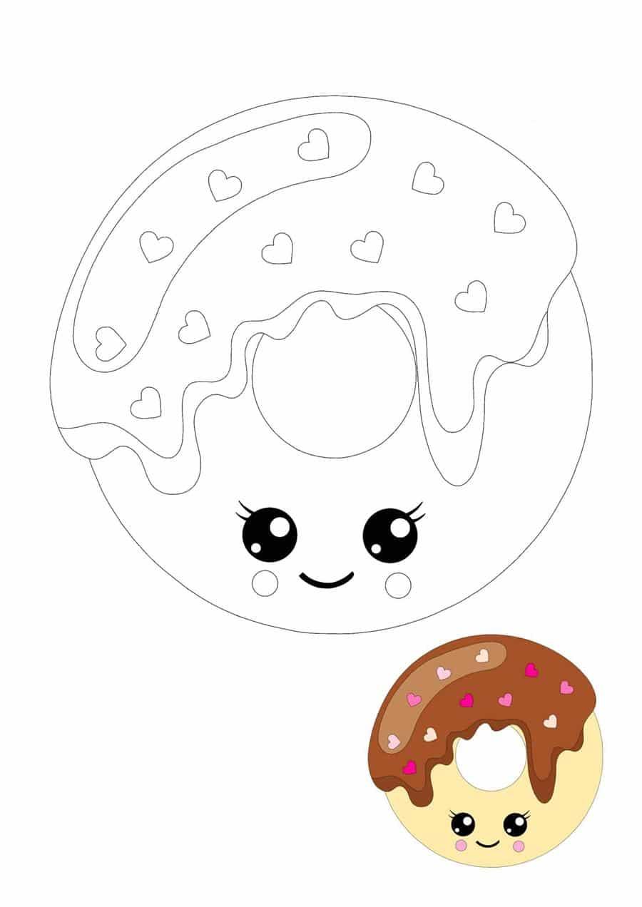 Desenho de donut