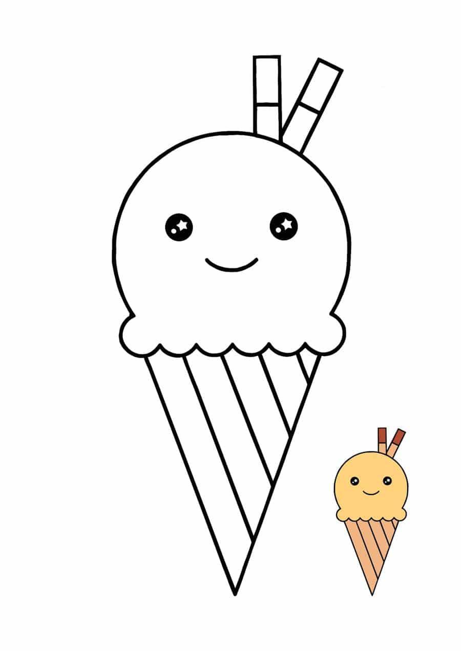 paper squishyde sorvete