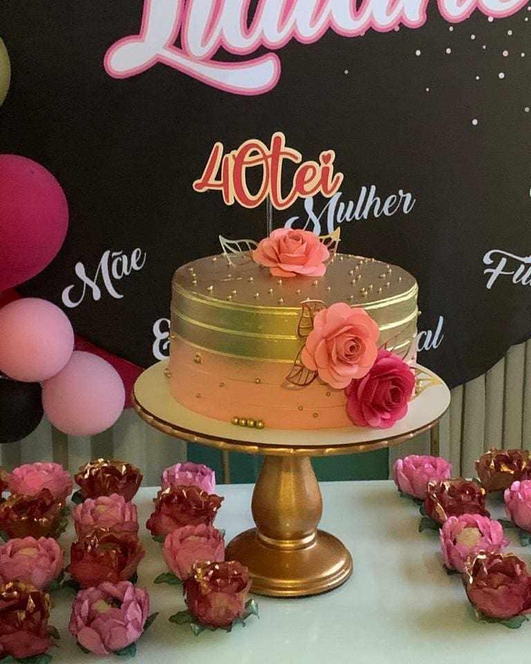 bolo de 40 anos