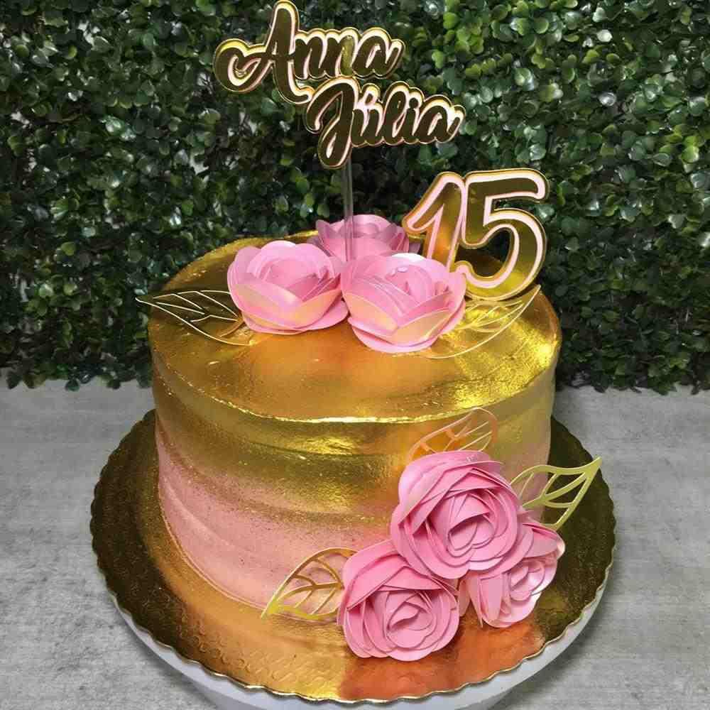 Como fazer bolo rose gold
