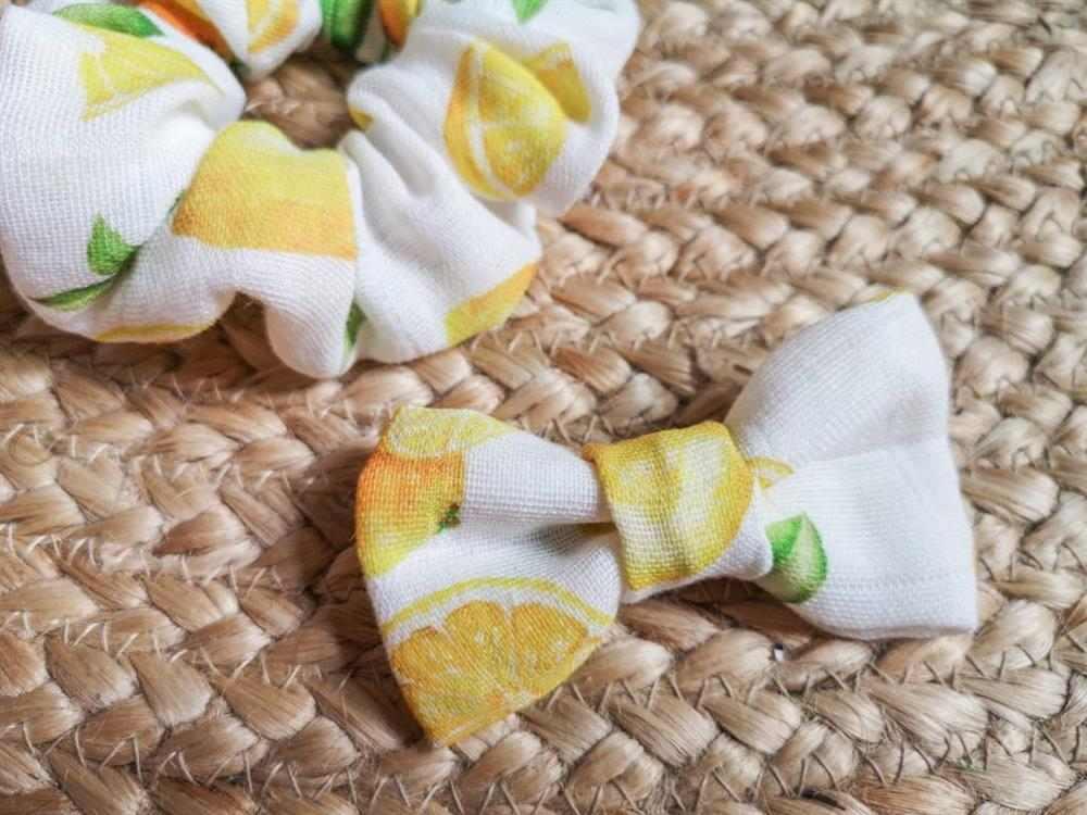 Laço de tecido estampado