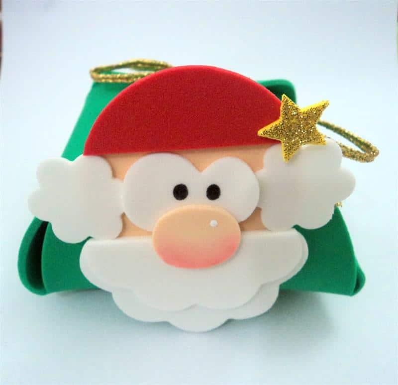 lembrancinhas simples de Natal em EVA
