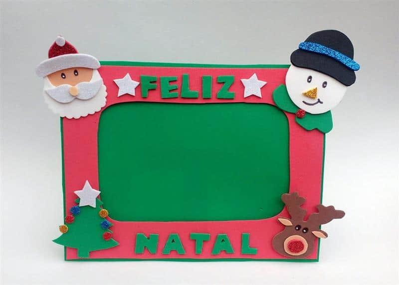 Porta retrato de Natal em EVA