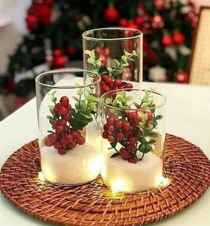 potes de vidro para natal