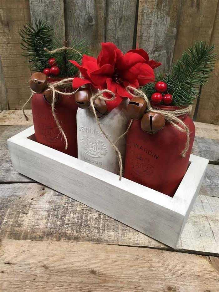 potes decorados de natal