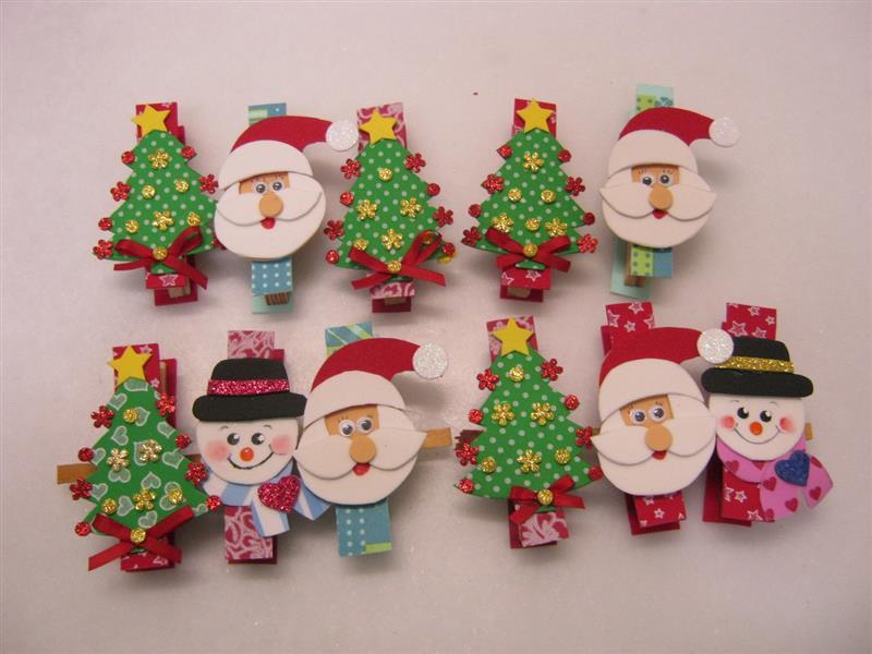 Pregador decorado com motivos natalinos