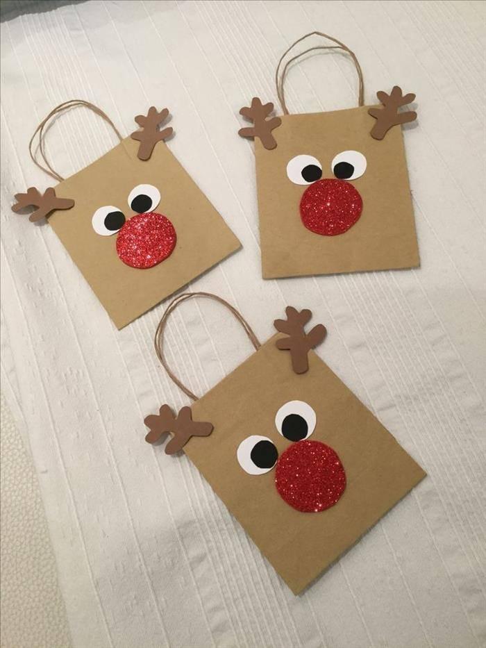 sacolinha decorada de natal