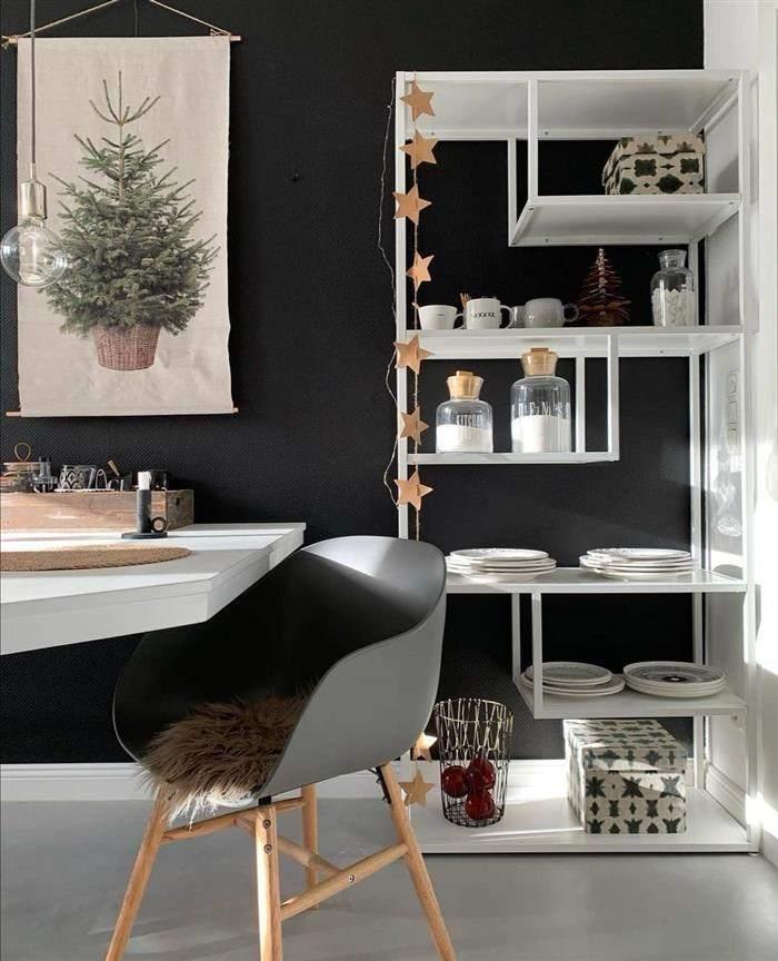 sala pequena decorada natal
