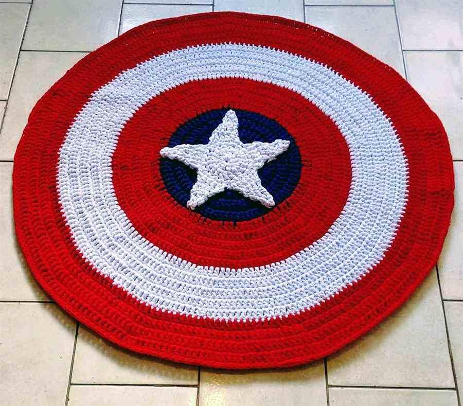 formato do escudo do capitão América