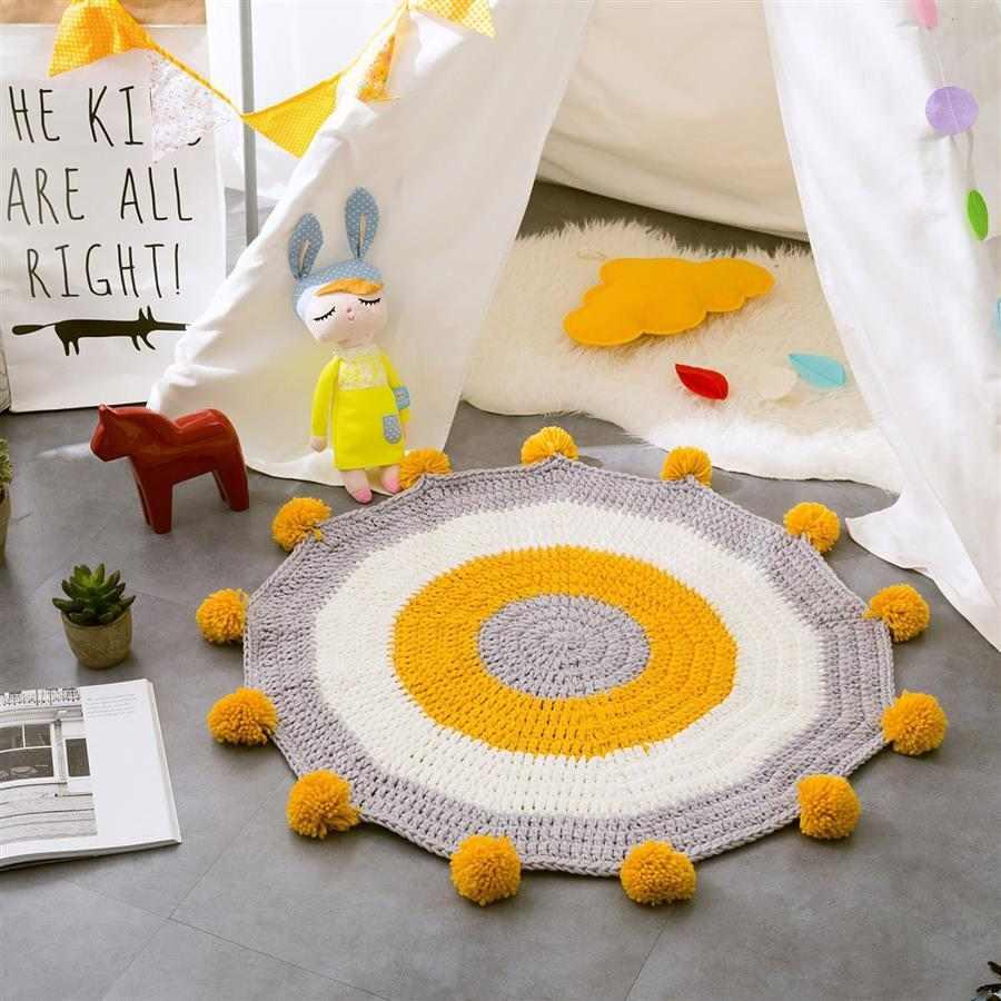 como fazer tapete de crochê infantil