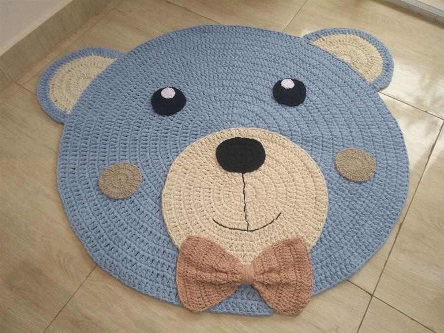 cabeça de urso azul