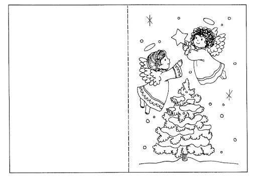desenho de cartao de natal para colorir