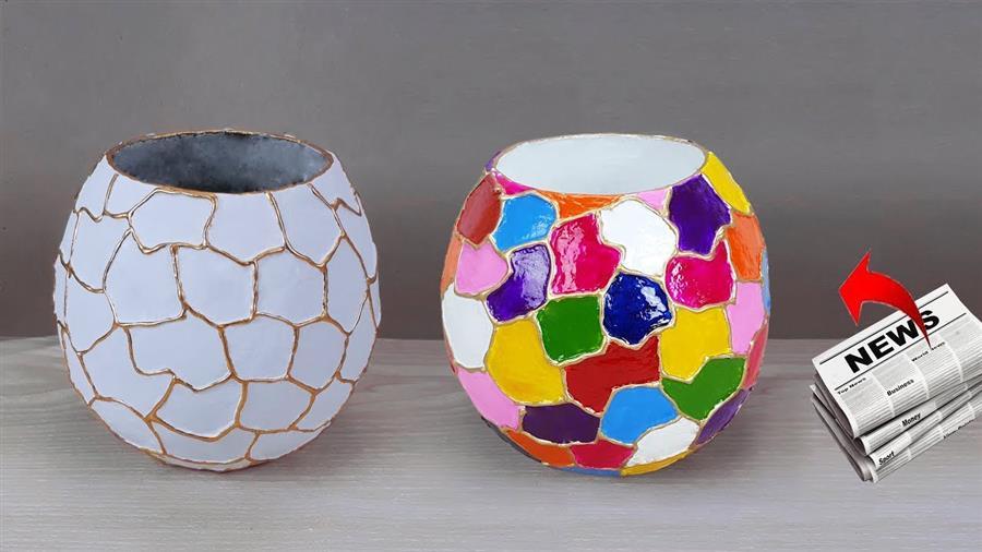 vaso de bexiga pequeno e colorido