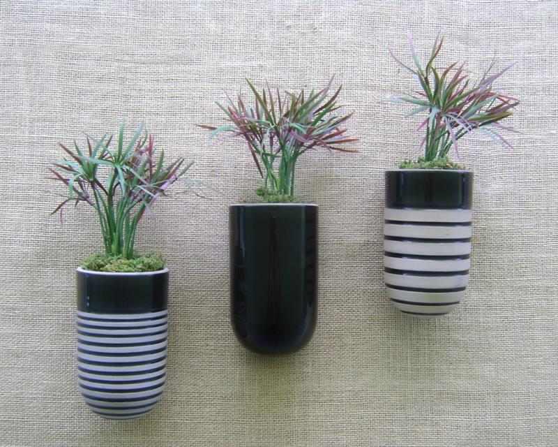 Vasos decorativos de parede