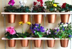 vasoso decorados jardim vertical