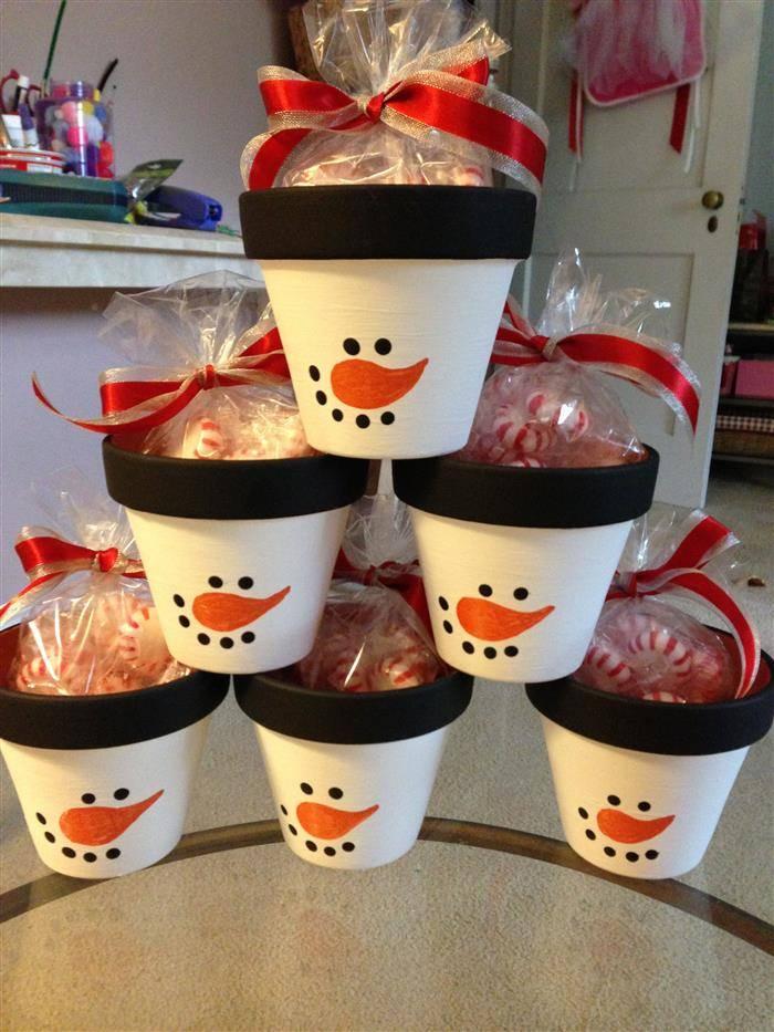 vasos de barro de natal