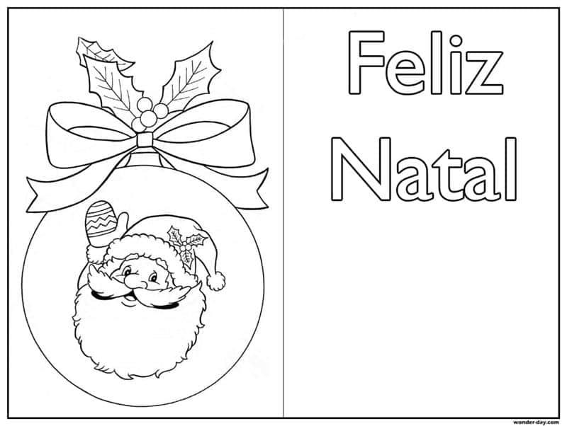 cartões de natal para colorir e montar