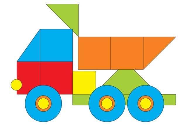 Desenho de caminhão caçamba