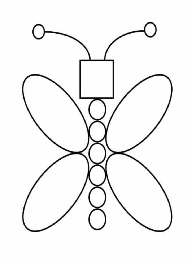 Borboleta de formas geométricas