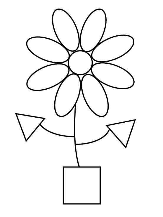 Vasinho de flor para colorir