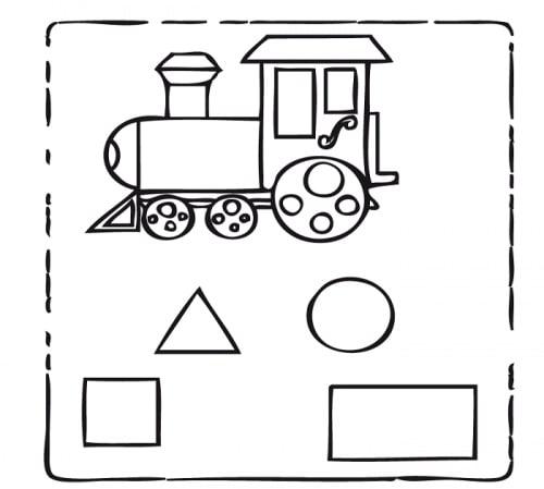 Desenho para pintar de trem