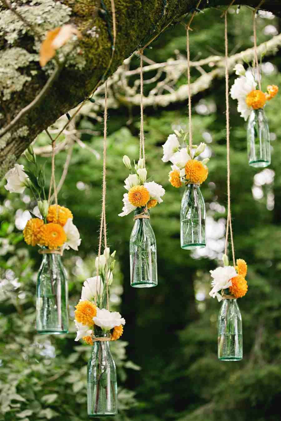 Vasos para flores pendurados
