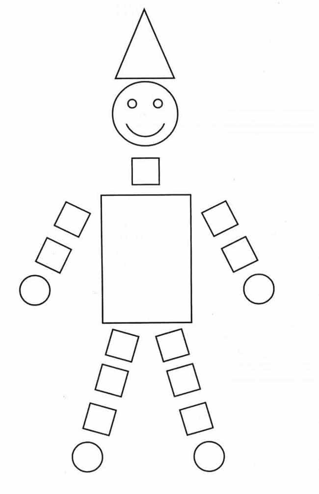 Desenho com formas geométricas simples