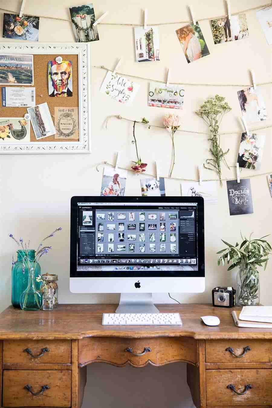 fotografias na decoração do home office