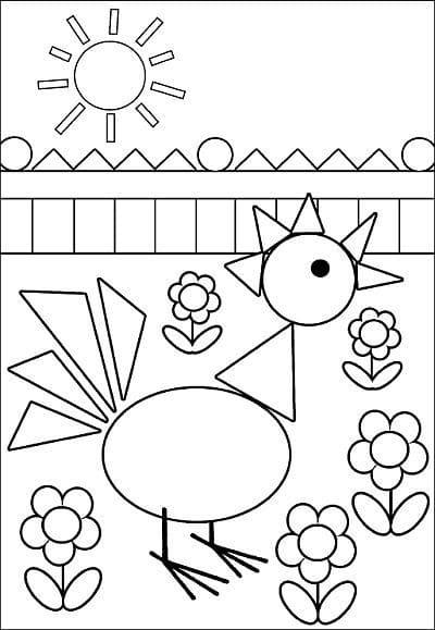 Desenho que tem formas geométricas
