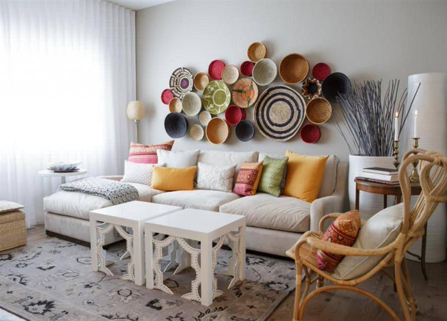Enfeites decorativos para sala grande