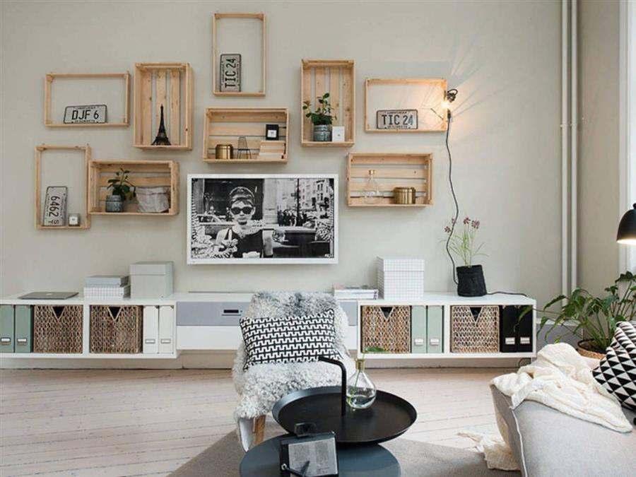 Decoração criativa com caixotes de feira
