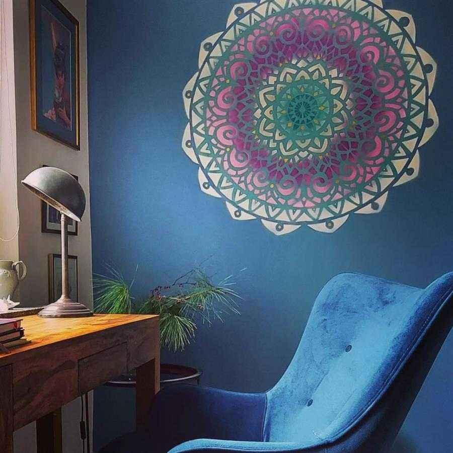 Foto de mandala colorida simples