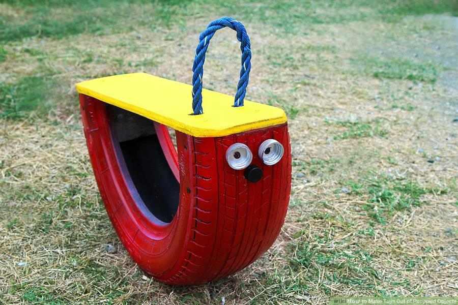Balanço com pneu reciclado