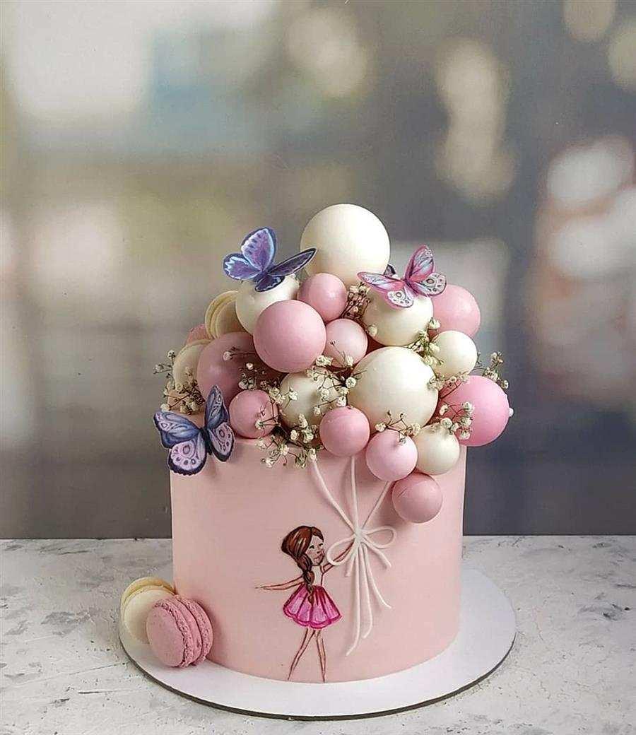 bolo feminino decorado rosa