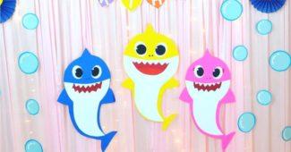 ideias simples e criativas para aniversario baby shark