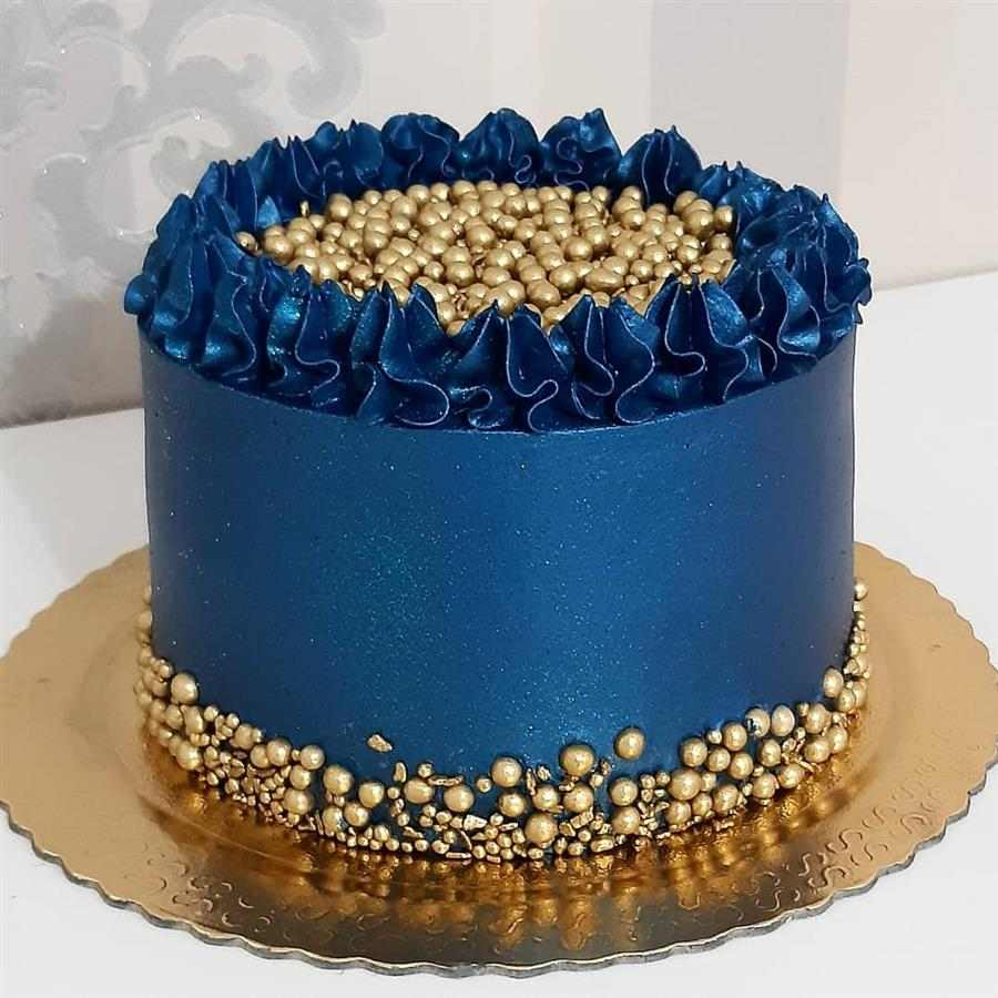 azul escuro com dourado