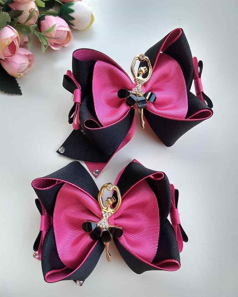 bailarina em preto e rosa